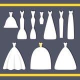 γάμος κατάταξης τεμαχίων φορεμάτων Στοκ Φωτογραφίες