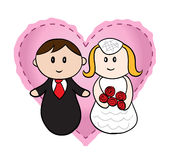 γάμος κινούμενων σχεδίων Στοκ φωτογραφία με δικαίωμα ελεύθερης χρήσης