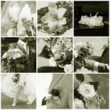 γάμος κολάζ Στοκ Εικόνες