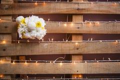 γάμος κορδελλών πρόσκλησης λουλουδιών κομψότητας λεπτομέρειας διακοσμήσεων ανασκόπησης Στοκ Εικόνα