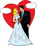γάμος κόμικς της δεκαετίας του '50. ελεύθερη απεικόνιση δικαιώματος