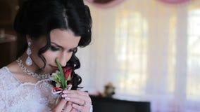 γάμος μυρωδιάς νυφών ανθοδεσμών απόθεμα βίντεο