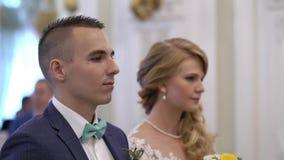 γάμος νεόνυμφων τελετής ν&u απόθεμα βίντεο