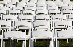 γάμος οργάνωσης σειρών εδρών ξύλινος Στοκ φωτογραφία με δικαίωμα ελεύθερης χρήσης