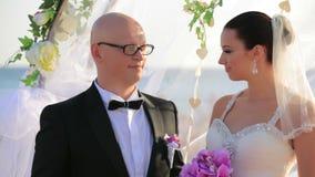 γάμος λουλουδιών τελετής νυφών απόθεμα βίντεο