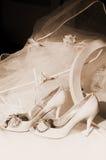 γάμος πέπλων παπουτσιών κι& στοκ φωτογραφία