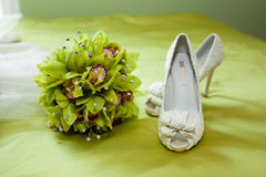 γάμος παπουτσιών ανθοδε Στοκ εικόνες με δικαίωμα ελεύθερης χρήσης