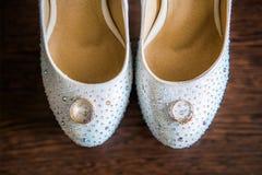 γάμος παπουτσιών δαχτυλιδιών Στοκ Εικόνες