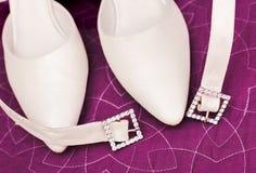 γάμος παπουτσιών λεπτομέ&rh Στοκ Φωτογραφίες