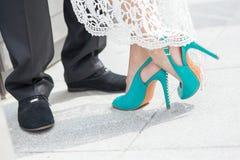 γάμος παπουτσιών νυφών s Στοκ εικόνες με δικαίωμα ελεύθερης χρήσης