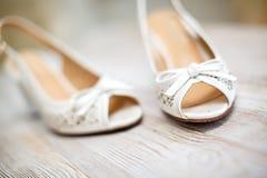 γάμος παπουτσιών νυφών s Στοκ Εικόνες