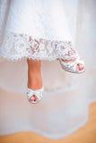 γάμος παπουτσιών νυφών s Στοκ Φωτογραφίες