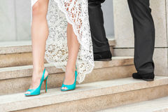 γάμος παπουτσιών νυφών s Στοκ φωτογραφίες με δικαίωμα ελεύθερης χρήσης