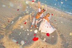 Γάμος παραλιών Στοκ Φωτογραφίες