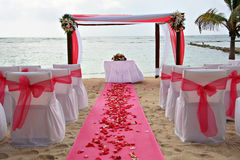 γάμος παραλιών Στοκ Εικόνες