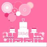γάμος 8 πιτών γλυκός πίνακας επίσης corel σύρετε το διάνυσμα απεικόνισης διανυσματική απεικόνιση