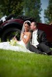 γάμος πορτρέτου ζευγών Στοκ φωτογραφία με δικαίωμα ελεύθερης χρήσης