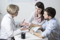 Γάμος που πληρώνει για τη διαδικασία IVF Στοκ Εικόνες
