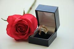 Γάμος που τίθεται διπλός στο κιβώτιο Στοκ φωτογραφία με δικαίωμα ελεύθερης χρήσης