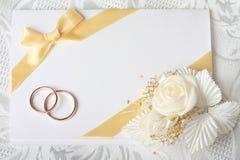 γάμος πρόσκλησης καρτών Στοκ Φωτογραφίες