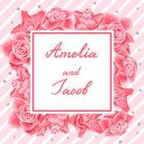 γάμος πρόσκλησης χαιρετ&iota Στοκ φωτογραφία με δικαίωμα ελεύθερης χρήσης