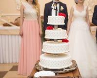 γάμος πρώτου πλάνου εστίασης 3 ανθοδεσμών Λουλούδια νυφών ` s Στοκ εικόνα με δικαίωμα ελεύθερης χρήσης