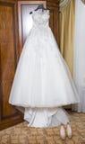 γάμος πρώτου πλάνου εστίασης 3 ανθοδεσμών Λουλούδια νυφών ` s Στοκ φωτογραφία με δικαίωμα ελεύθερης χρήσης