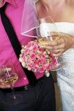 γάμος πρώτου πλάνου εστίασης 3 ανθοδεσμών Στοκ εικόνες με δικαίωμα ελεύθερης χρήσης