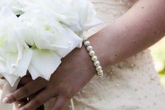 γάμος πρώτου πλάνου εστίασης 3 ανθοδεσμών Στοκ φωτογραφία με δικαίωμα ελεύθερης χρήσης