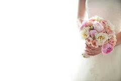 γάμος πρώτου πλάνου εστίασης 3 ανθοδεσμών Στοκ φωτογραφίες με δικαίωμα ελεύθερης χρήσης