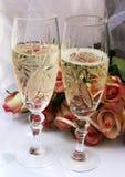 γάμος σαμπάνιας Στοκ Φωτογραφίες