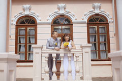 Γάμος σε ένα όμορφο μέγαρο Στοκ Εικόνες