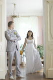 Γάμος σε ένα όμορφο μέγαρο Στοκ φωτογραφία με δικαίωμα ελεύθερης χρήσης