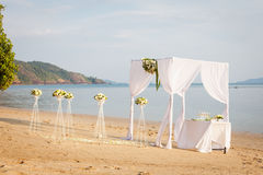 Γάμος στην παραλία Στοκ Φωτογραφίες