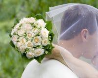 γάμος στιγμής Στοκ φωτογραφία με δικαίωμα ελεύθερης χρήσης