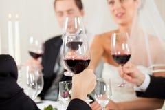 γάμος συμβαλλόμενων μερών γευμάτων Στοκ εικόνα με δικαίωμα ελεύθερης χρήσης