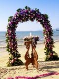 γάμος τελετής παραλιών Στοκ Εικόνες