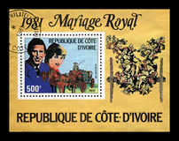 Γάμος της κυρίας Diana Spencer και Πρίγκιπας Κάρολος, circa 1981, Στοκ εικόνες με δικαίωμα ελεύθερης χρήσης