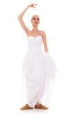 γάμος Τρέχοντας αστεία γυναίκα νυφών στα αθλητικά παπούτσια Στοκ φωτογραφία με δικαίωμα ελεύθερης χρήσης