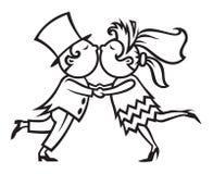 γάμος φιλήματος ζευγών Στοκ εικόνα με δικαίωμα ελεύθερης χρήσης