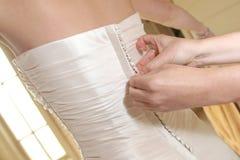 γάμος φορεμάτων κουμπιών Στοκ φωτογραφία με δικαίωμα ελεύθερης χρήσης