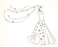 γάμος φορεμάτων Στοκ Εικόνες