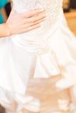 Γάμος χεριών νύφης Στοκ φωτογραφία με δικαίωμα ελεύθερης χρήσης