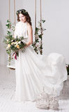 γάμος όμορφη νύφη ανθοδεσμών Στοκ Εικόνες