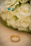γάμος 002 δαχτυλιδιών Στοκ Φωτογραφία