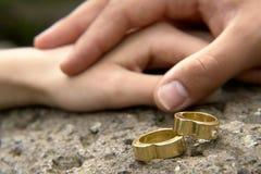 γάμος 5 δαχτυλιδιών Στοκ εικόνα με δικαίωμα ελεύθερης χρήσης