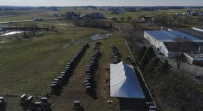 Γάμος Amish μια ημέρα φθινοπώρου στοκ φωτογραφία με δικαίωμα ελεύθερης χρήσης
