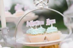 Γάμος cupcake Στοκ φωτογραφίες με δικαίωμα ελεύθερης χρήσης
