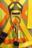 Γάντζος άνοιξη σχοινιών ασφάλειας Στοκ φωτογραφία με δικαίωμα ελεύθερης χρήσης