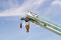 Γάντζος κινητών γερανών κατασκευής Στοκ εικόνα με δικαίωμα ελεύθερης χρήσης